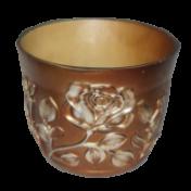 Vaso Flor Natural - Bronze - P - L803