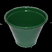 Cachepô Alumínio - N06 - Cor Verde Escuro