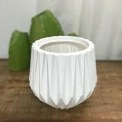 Vaso Origami N22 - 22x20,5 cm - 5,5 L - Cor Branco