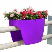 Greenbo XL Planter Grande - Vaso para Sacadas - Roxo