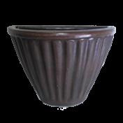 Vaso de Parede Leia 29 cm de Polietileno Cor Rusty - Vasart