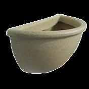 Vaso de Parede 34 cm - Cor Granito Areia - Vasart