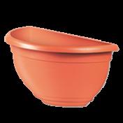 Vaso de Parede Plástico - 31x16x16 cm - Cor Cerâmica