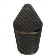 Vaso de Parede Meia Lua Rattan T2 - L1064 - Cor Tabaco