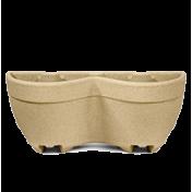 Vaso de Parede Duplo Modular Texturizado 52 cm - 9 L - Areia