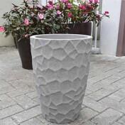 Vaso Cônico Prisma - N30 - 43x31 cm - 20L - Cor Mármore