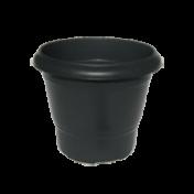 Vaso Terracota - N01 - Alt 17,5 - Cor Preta