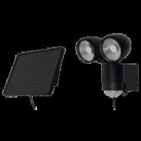 Luminária Solar Dupla com Sensor de Movimento - Preta - 13206 - Ecoforce