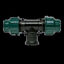 """Conexão T de Compressão - 2 x 25mm - 1 saída Fêmea 1/2"""" - 2185 - Elgo"""