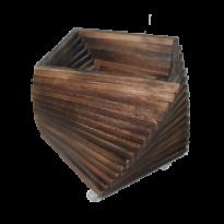 Cachepô Madeira Torcido - com rodízios - 37x35x35 - CCT1