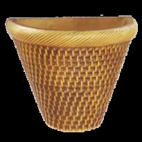 Vaso de Parede - Natural - 22cm - 3 L - Grande L1107