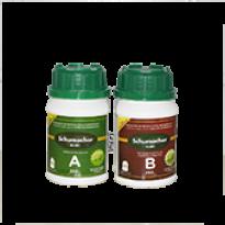 Kit Solução Nutritiva Fertilizante para Hidroponia A+B Schumacher - 250ml