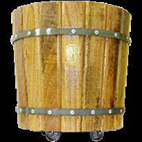 Vaso de Madeira (Tanoeiro) com rodízios 38x38