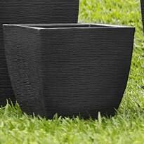 Vaso Trapézio - 25,5x25,5 cm - RM0303PP - Grafiato - Diversas Cores - Rotogarden