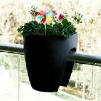 Greenbo Planter - Vaso para Sacadas - Preto
