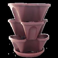 Jardineira Vertical Empilhávael -  PlastGarden - Vermelho