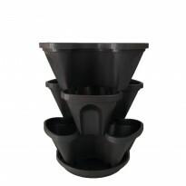 Jardineira Vertical - PlastGarden - Preta