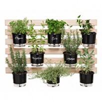 Kit Horta Vertical Gourmet Larga 60x100 cm - (8 vasos T3 + 8 Argolas + 1 treliça)