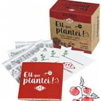 Kit de Sementes - Eu Que Plantei (Alface, Tomate e Cenoura)