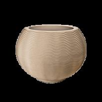 Vaso Ondulado Redondo N40 - 40x40cm - 70 Litros - Cor Areia