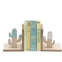 Porta Livros Cactus em Madeira - 15x13 cm - 40814