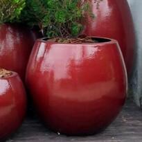 Vaso Fibra de Vidro - Vaso Bola M - 54 alt x 49 diâm
