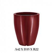 Vaso Cônico - 42 alt x 36 diâm - PPA30 - Pintura em Alto Brilho - Cores