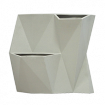 Vaso de Parede Modular 50x55 cm Angolo - Cor Cimento