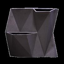 Vaso de Parede Modular  50x55 cm Angolo - Cor Grafite