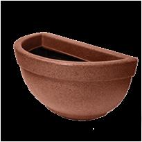 Vaso de Parede Texturizado N39 - 7 L - Ferrugem