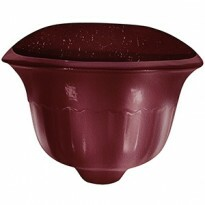 Vaso de Parede Fwall T - Fibra de Vidro - 23,5 alt x 36,5x19,5 cm - Diversas Cores - Rotogarden