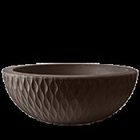 Vaso Infinity Concha N27 - 27x75 cm - 54 L - Tabaco