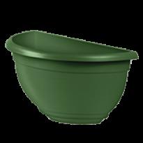 Vaso de Parede Plástico - 31x16x16 cm - Cor Verde