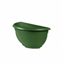 Vaso de Parede Mini Plástico - 20x10x10 cm - Cor Verde