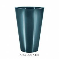 Vaso Cônico - 73 alt x 49 diâm - PPA26 - Pintura em Alto Brilho - Cores