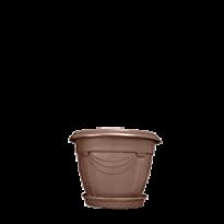 Vaso Romano - N00 - Diam 19 Alt 14 cm - Cor Tabaco