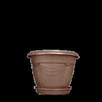 Vaso Romano - N01 - Diam 25,2 Alt 19,6 cm - Cor Tabaco
