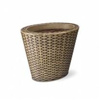Vaso Treccia Oval N33 - 19 Litros - 33x43 cm - Cor Envelhecido