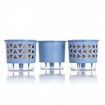 Trio Formas Geométricas - Autoirrigável T3 Médio - Cor Azul Serenity