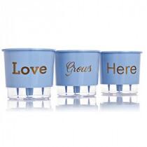 Trio Love Grows Here - Autoirrigável T3 Médio - Cor Azul Serenety