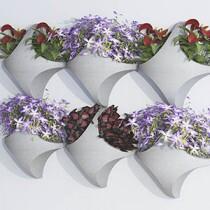 Vaso de Parede Mosaico 35,5x35 cm - Cor Cimento