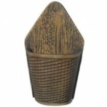 Vaso de Parede Meia Lua - Tabaco L1063