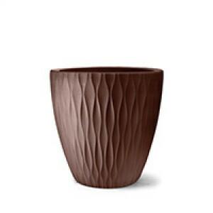 Vaso Infinity Redondo N65 - 65x65 cm - 160 L - Tabaco