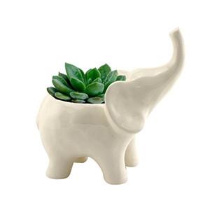 Cachepô Animals Elefante em Cerâmica