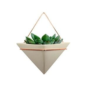 Cachepô de Parede Triangle em Cerâmica mini