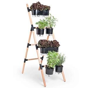 Suporte Escada Para vasos Raiz - Eleve 4 Níveis - Preto