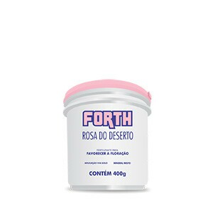 Forth Rosa do Deserto - Fertilizante NPK 10-16-12 + 10 Nutrientes - 400 g