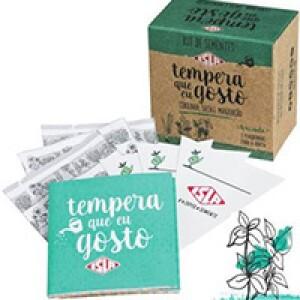 Kit de Sementes - Tempera Que Eu Gosto (Salsa, Cebolinha e Manjericão)