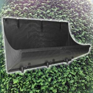 Jardineira Modular - Jardim Vertical - 12 L -  Preto - Plastwall