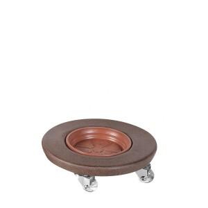 Suporte 25 cm Redondo com rodízio em silicone
